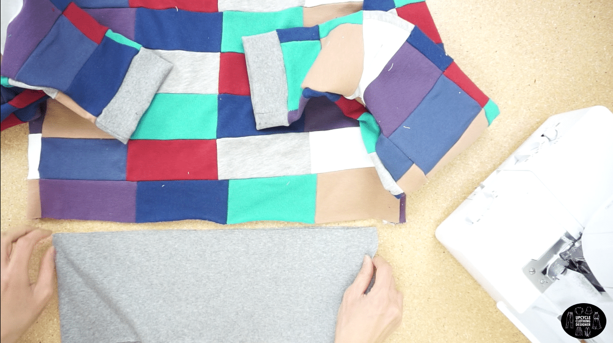 Use ribbed fabric for the waistband