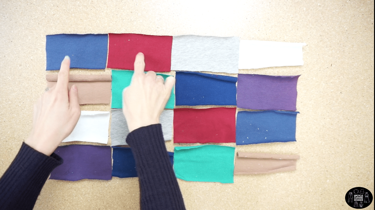 Pieces to make a patchwork fabric