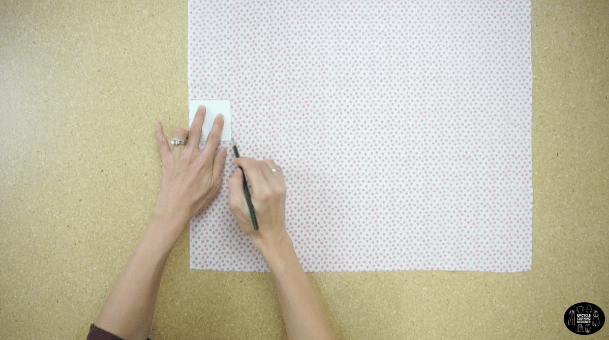 """Cut out 2½"""" x 2½"""" fabric squares"""