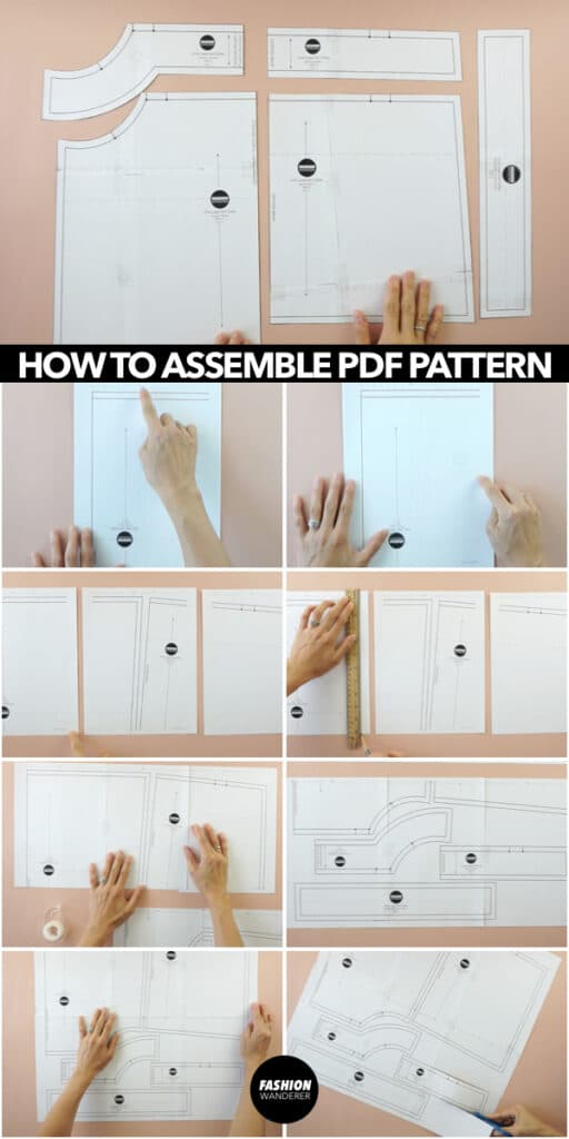 How to assemble pdf sewing pattern