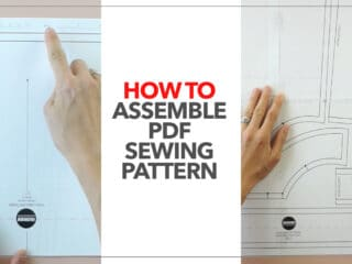 How to assemble pdf sewing pattern thumbnail