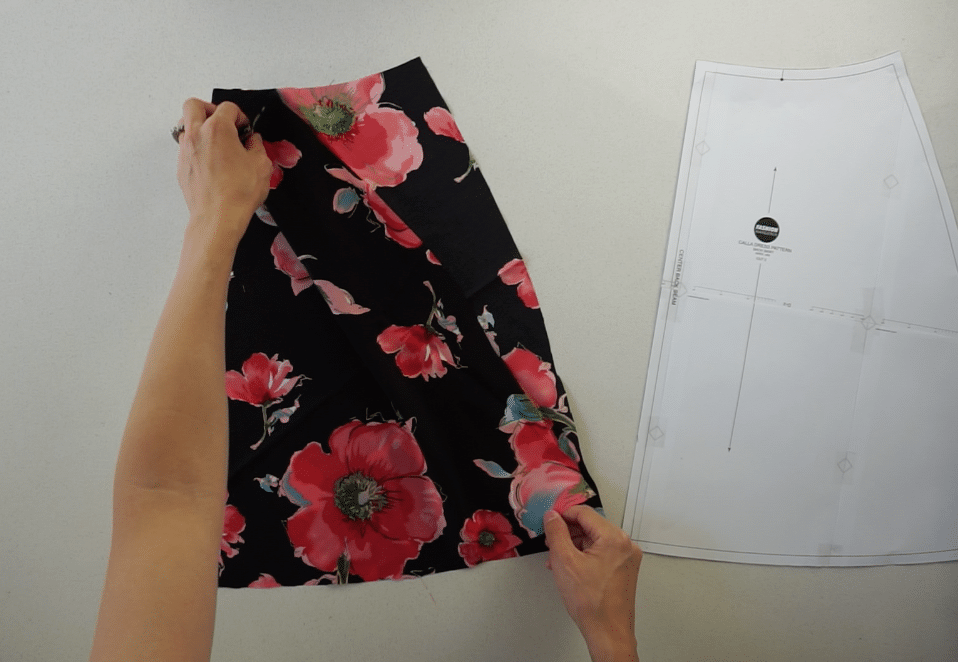 Back skirt pattern pieces