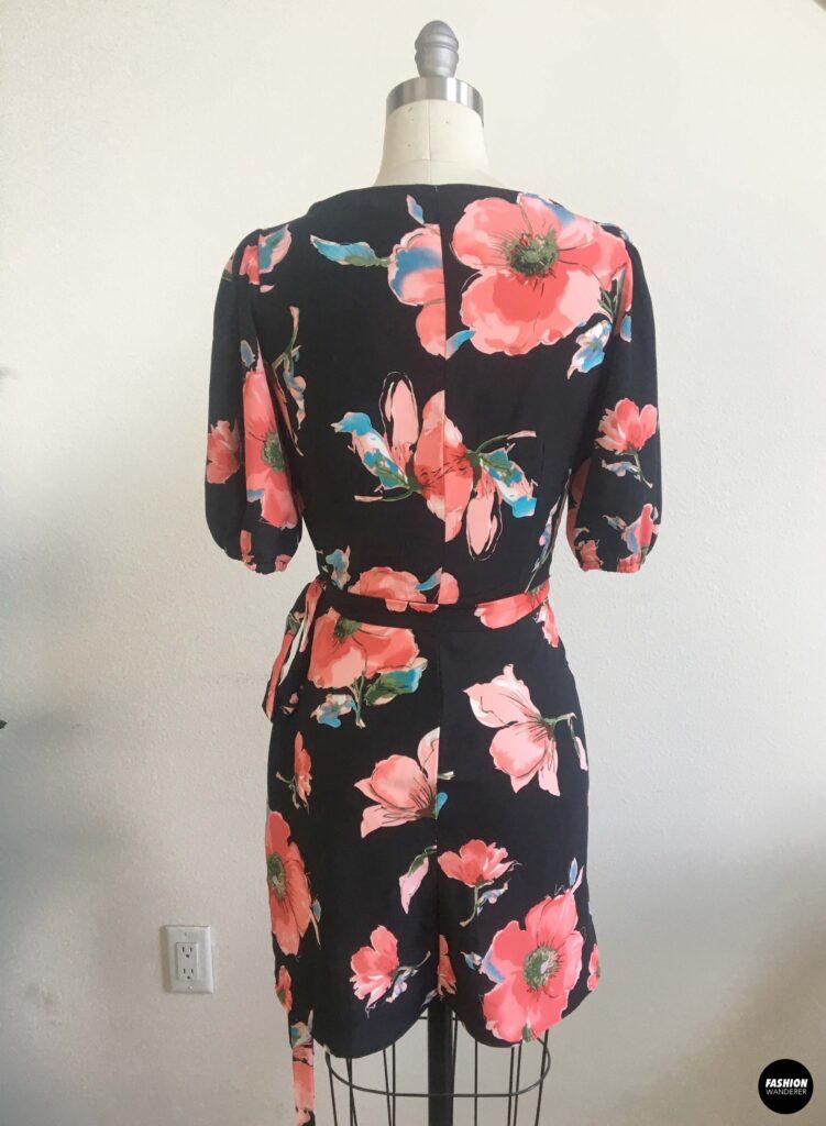 Calla wrap dress back view