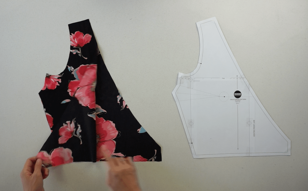 Front bodice pattern pieces