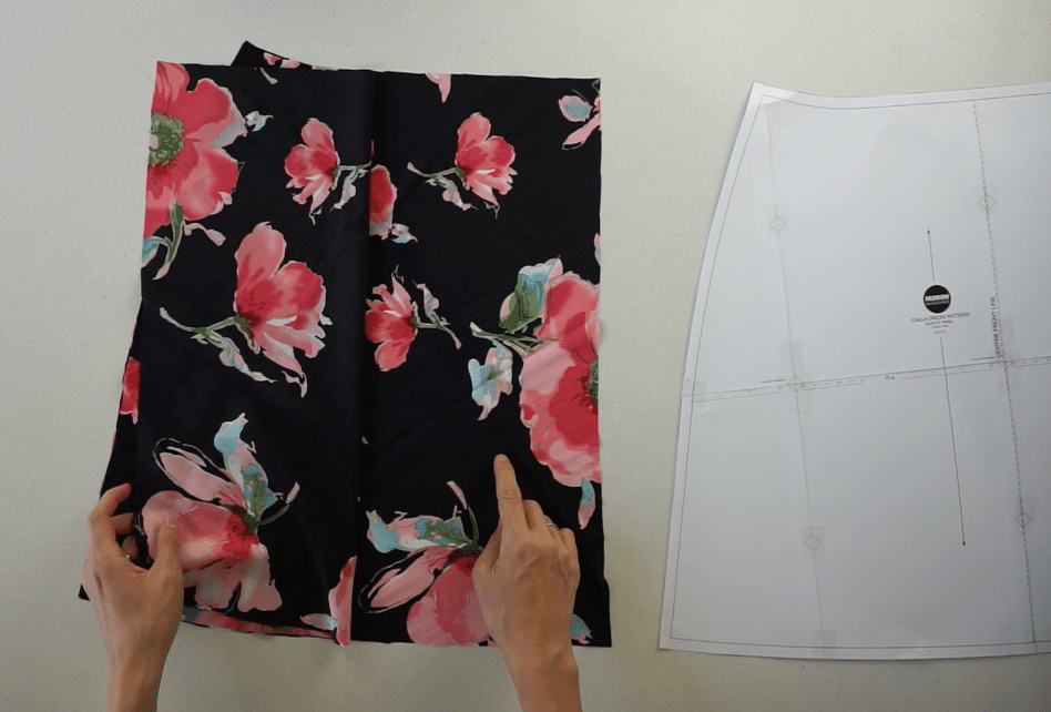 Front skirt pattern pieces