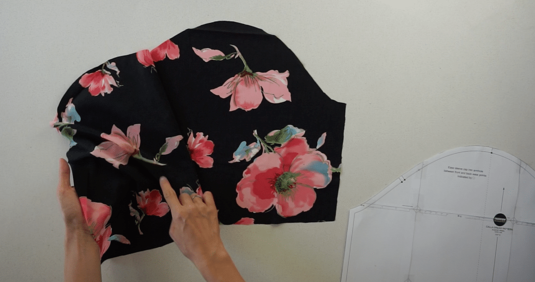 Puff sleeve pattern pieces