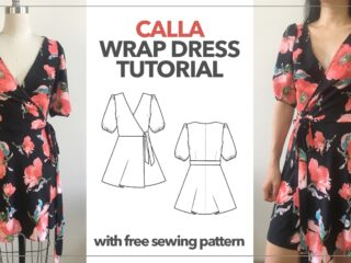 Calla wrap dress tutorial thumbnail