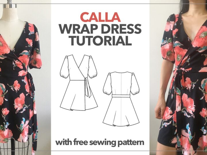 Calla Wrap Dress Tutorial With Free Sewing Pattern