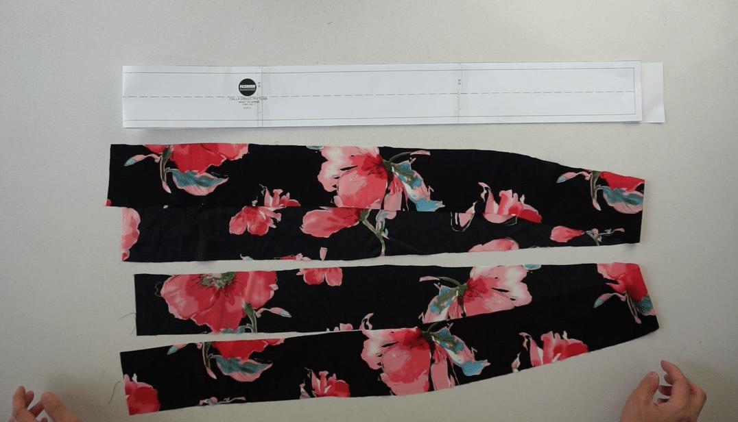 Waist strap pattern pieces