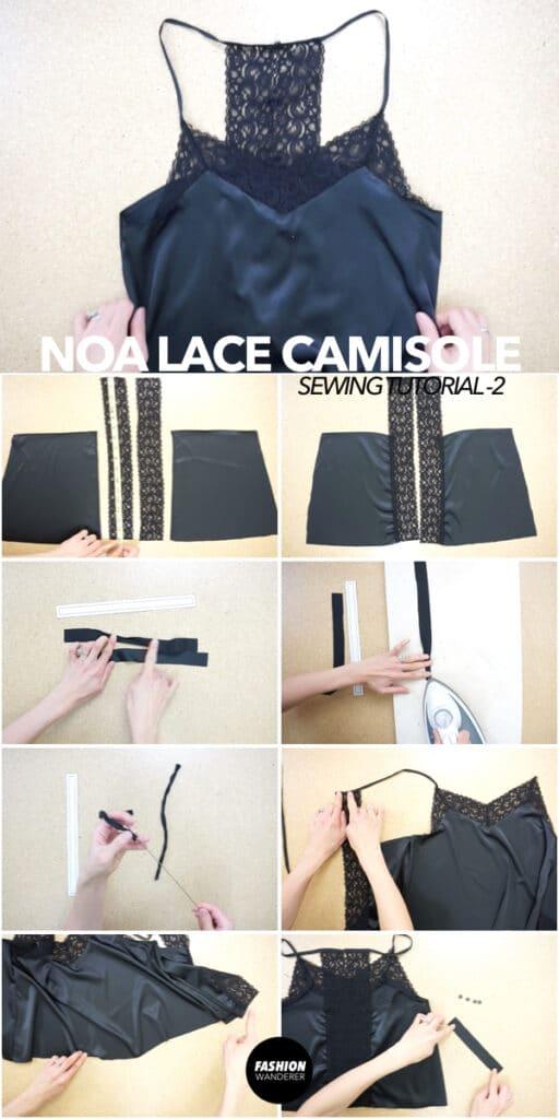 diy lace camisole tutorial