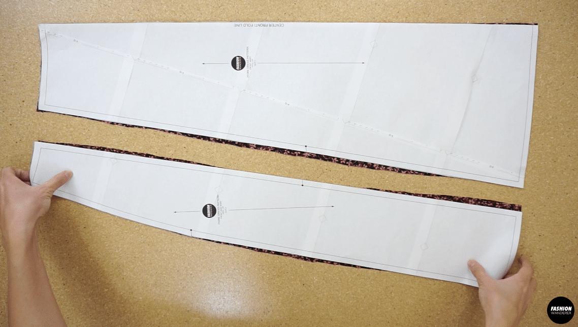 Fiore midi dress front dress pattern piece