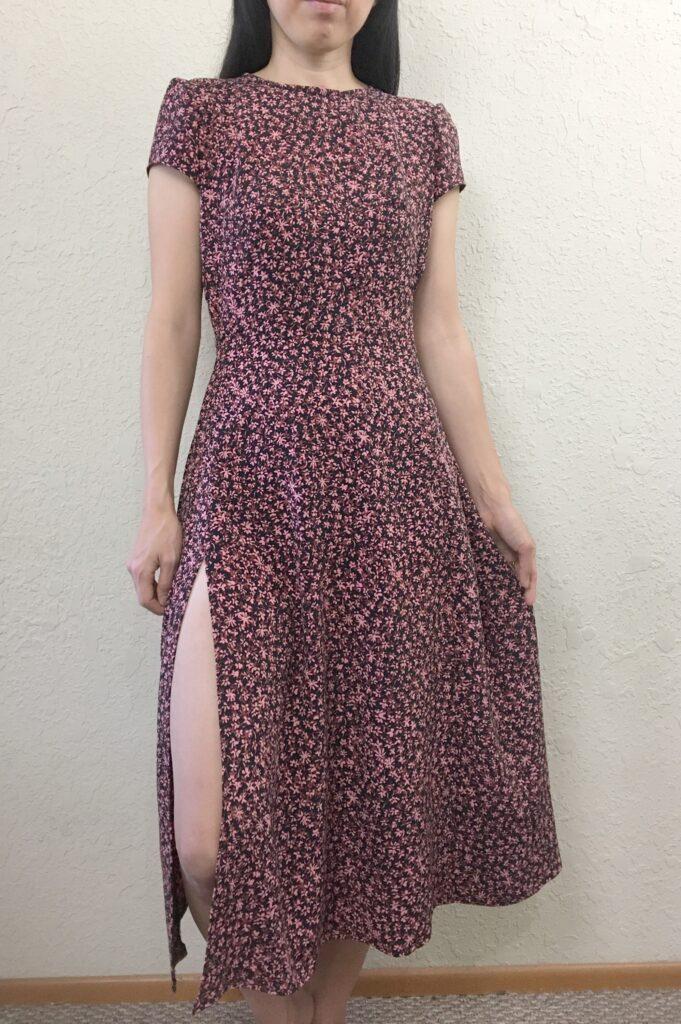 Fiore midi dress front slit