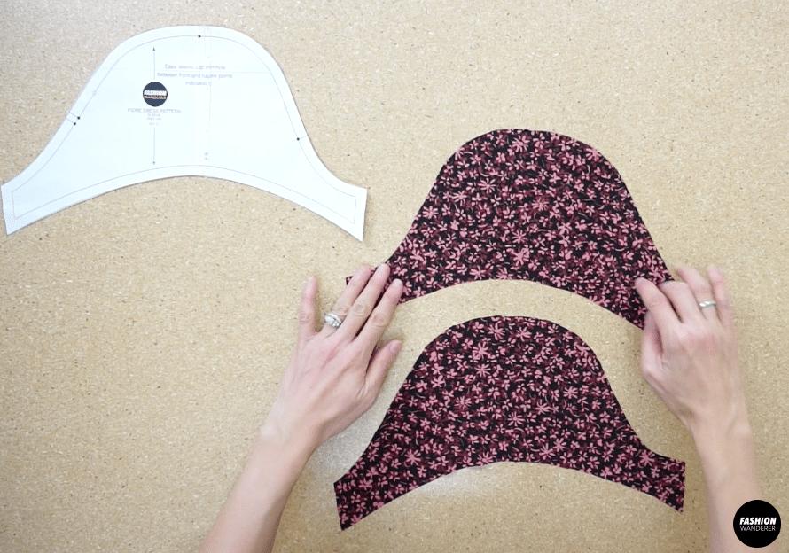 Fiore midi dress puff sleeve pattern piece