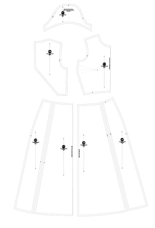 fiore midi dress sewing pattern