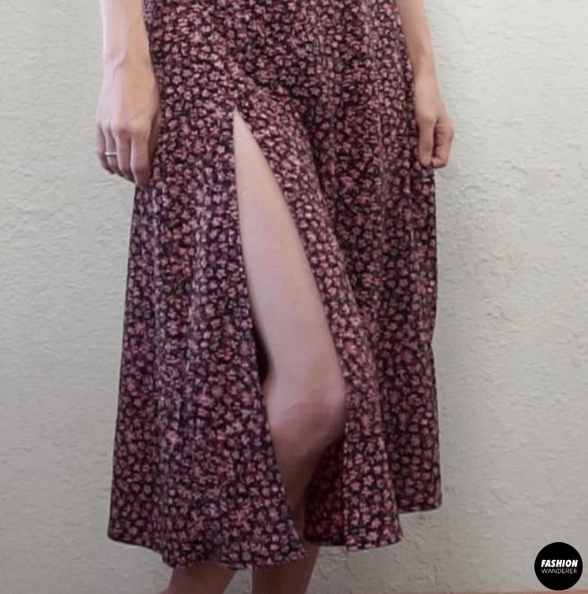 Fiore midi dress side slit