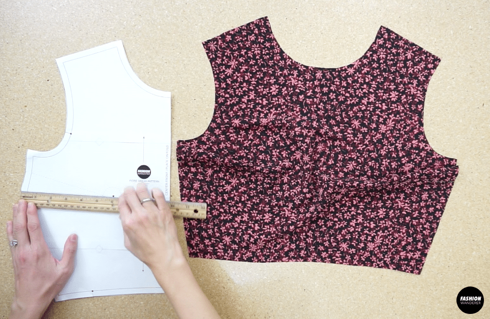 Copy the bust dart onto the other side of the front bodice piece.