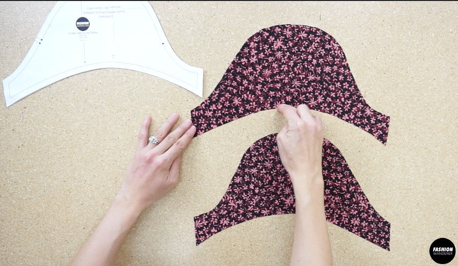 To make the puff sleeves, overlock or zigzag stitch along the armhole opening.