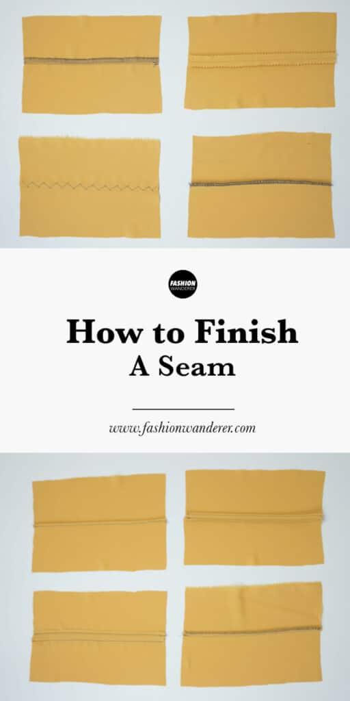 Steps to finish a seam