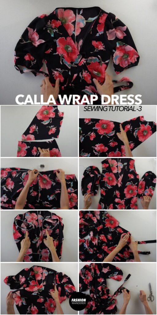 How to make Calla wrap dress