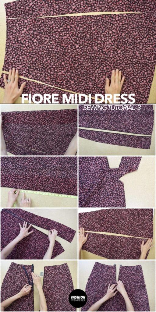How to make Fiore midi dress bottom