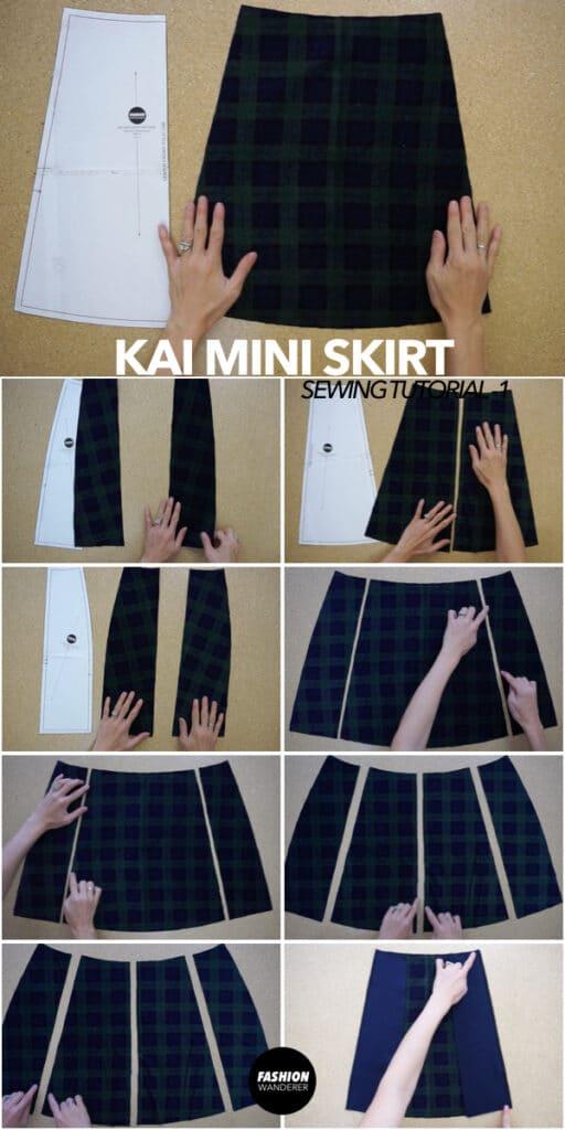 How to make a Kai notched mini skirt