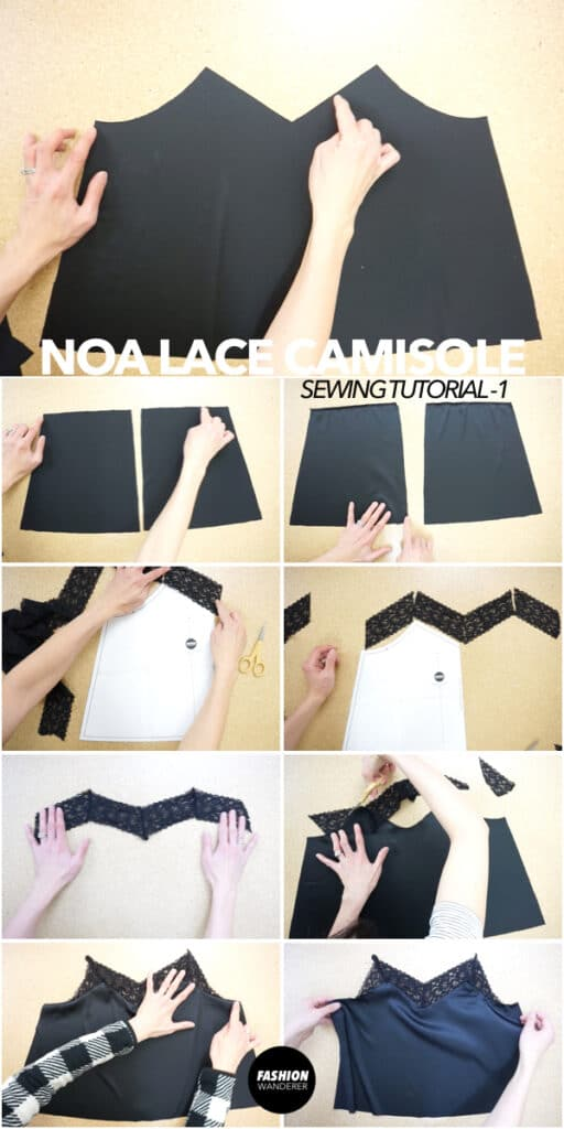 How to make lace camisole top