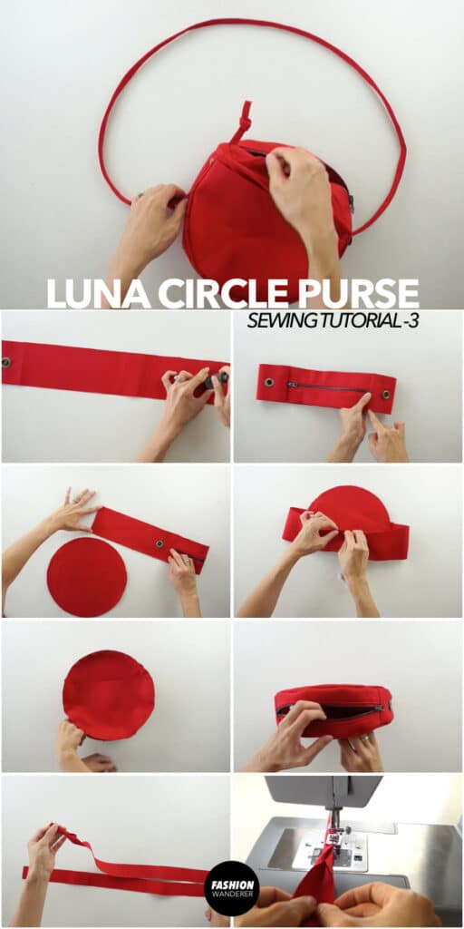 How to make diy circle purse.