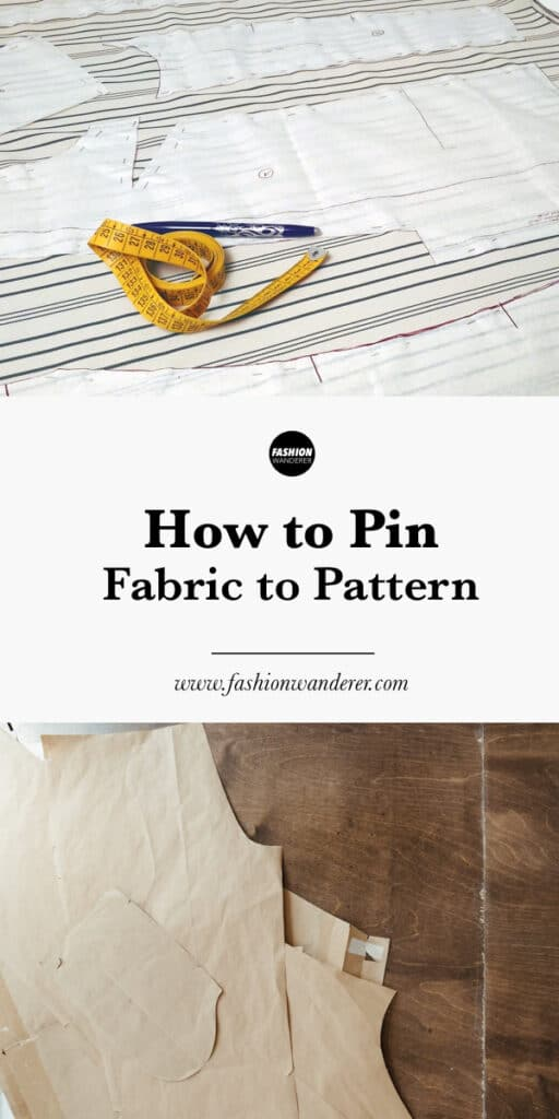step by step how to pin fabric to pattern