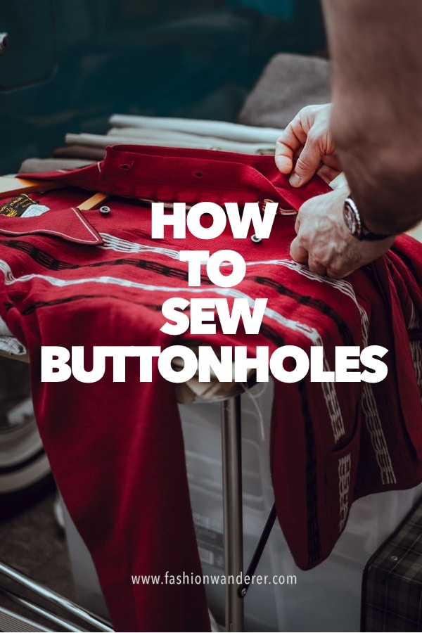 tutorial on how to sew buttonholes