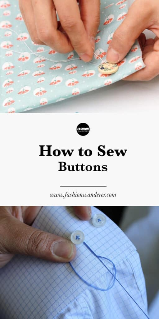 step by step tutorial on how to sew buttons by hand and sewing machine