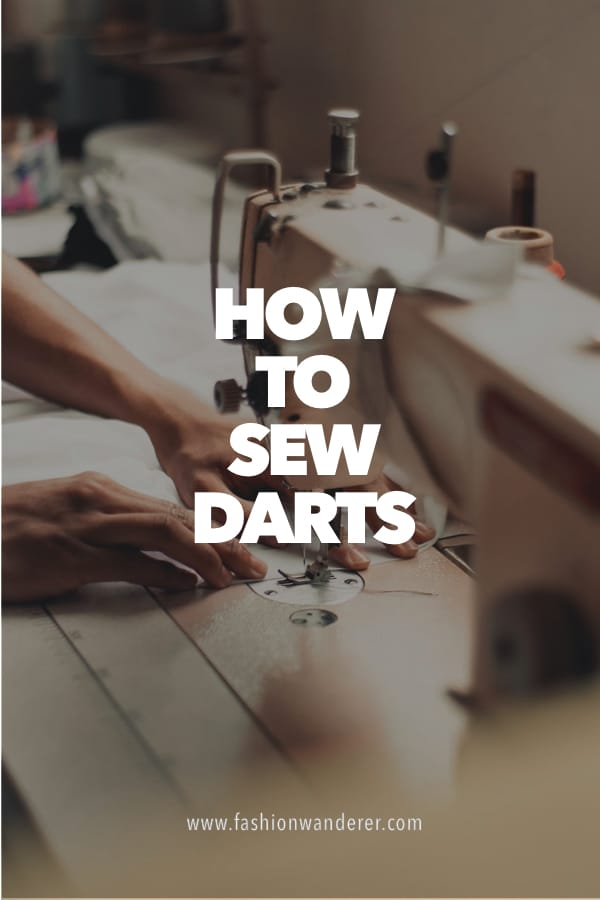 steps on how to sew darts on sewing machine