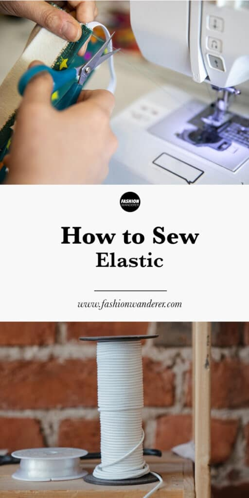 step tutorial on how to sew elastic