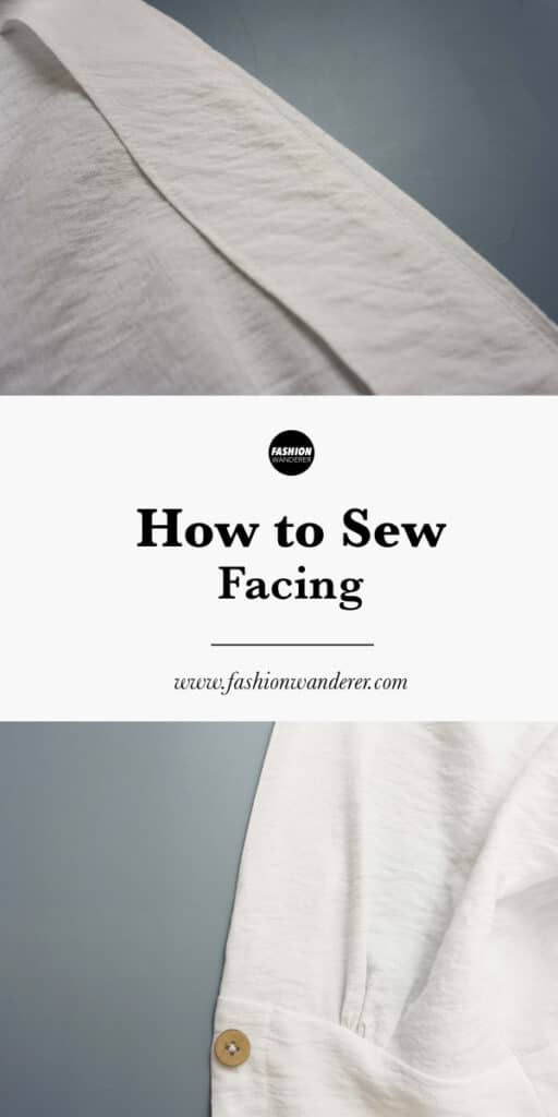 step by step on how to sew facing on clothes
