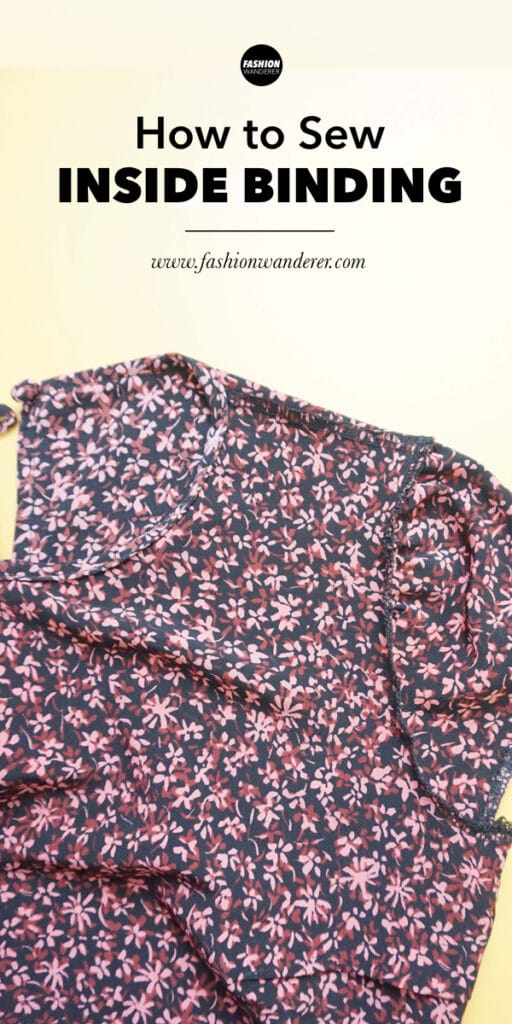 steps on how to sew inside binding on clothes