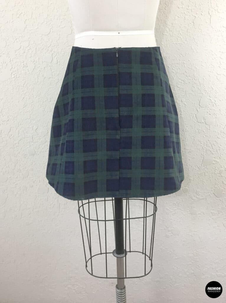 Kai mini skirt back view