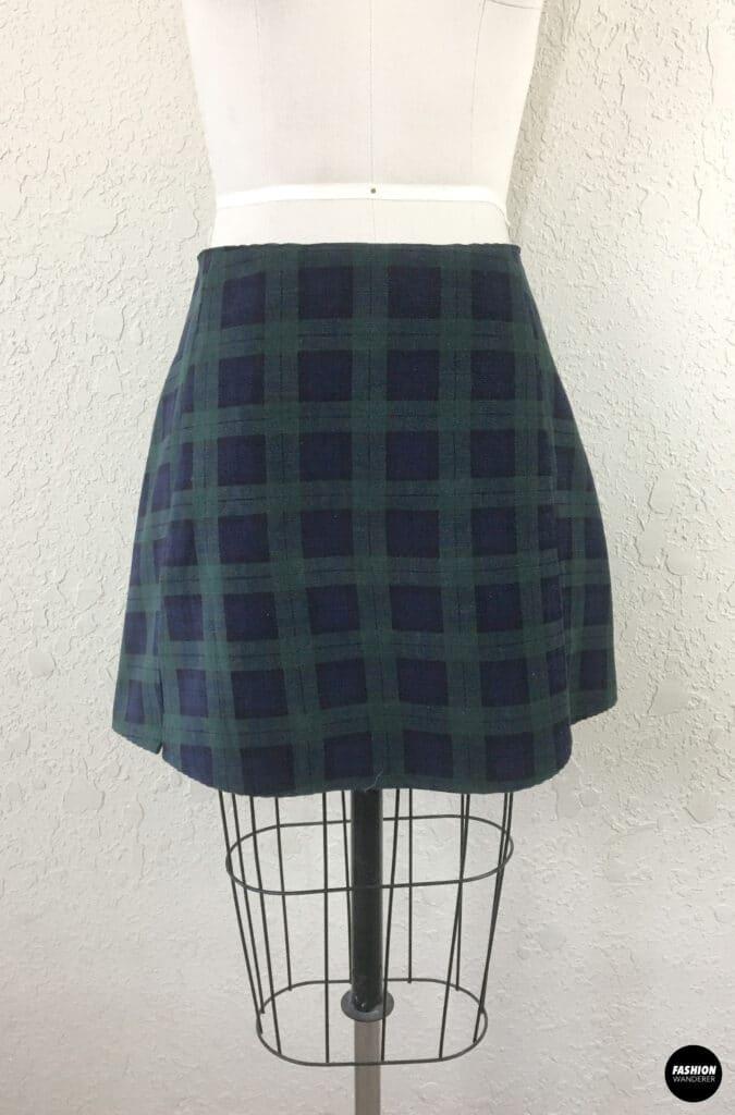 Kai Notched Mini Skirt Front Detail