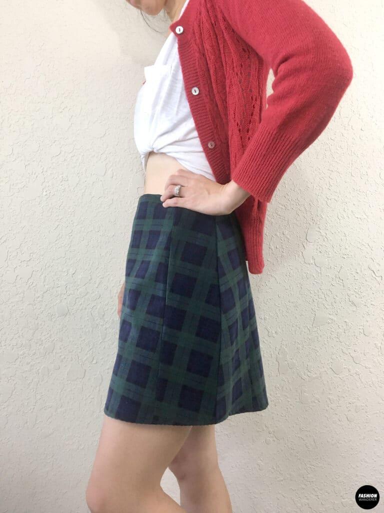 Kai Notched Mini Skirt sideview
