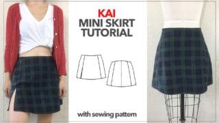 Kai Notched Mini Skirt thumbnail