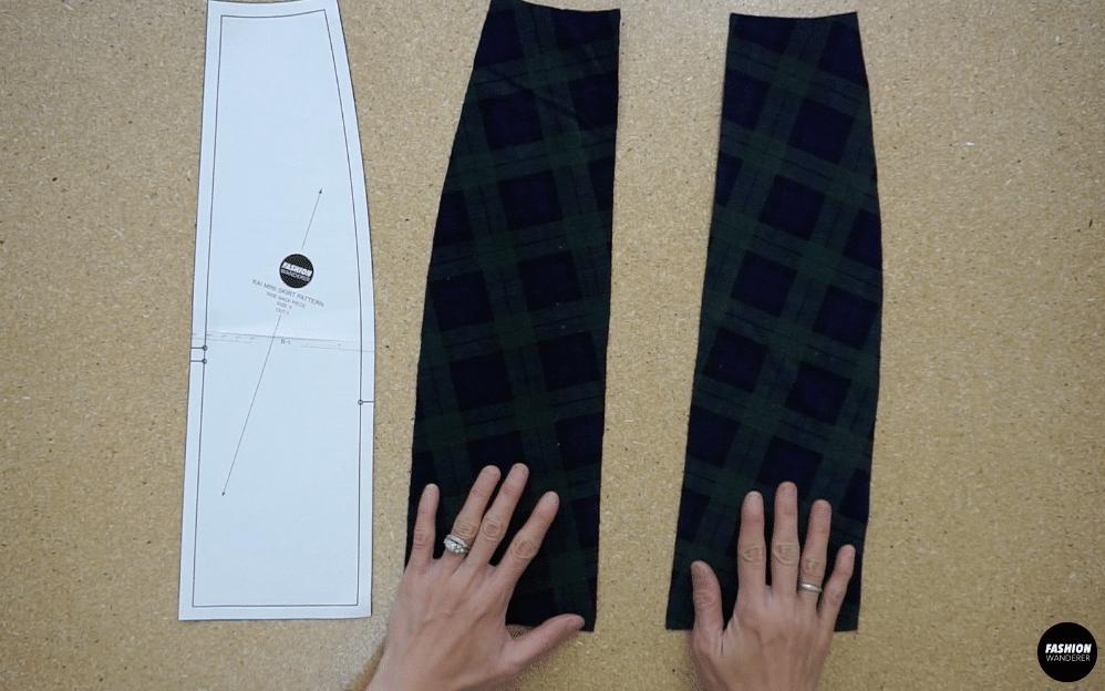 Kai notched mini skirt back side skirt piece