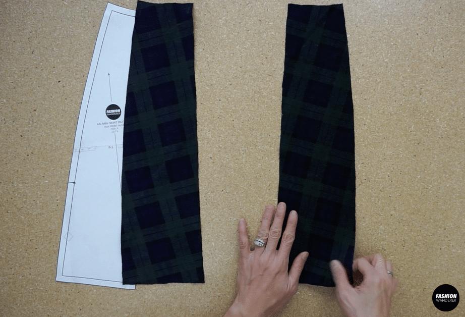 Kai notched mini skirt front side skirt piece