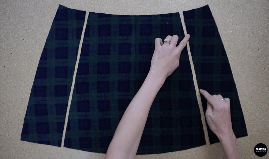 Overlock stitch the edges along the princess seams