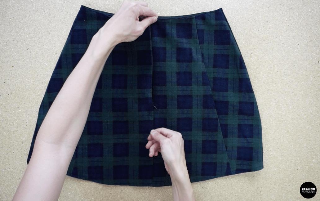 Kai notched mini skirt back view