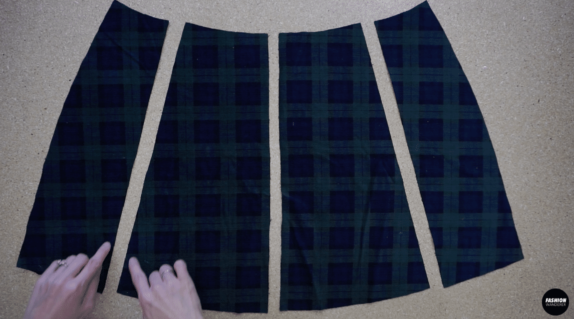 Only stitch along the back side pieces that attach to the back center pieces