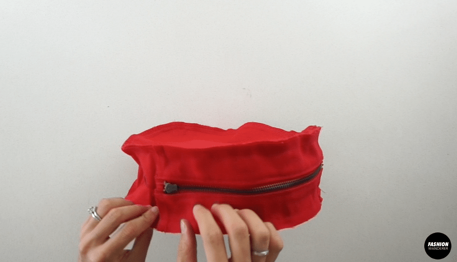 zigzag stitch around the edge of the purse with the right sides facing together.