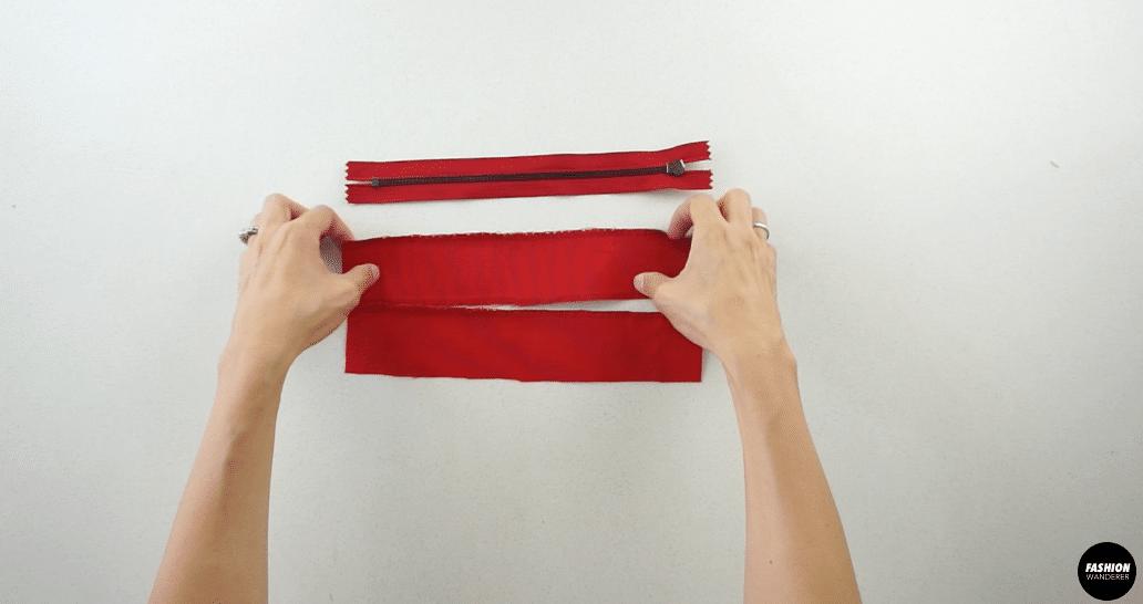 Attach the zipper to the zipper placket