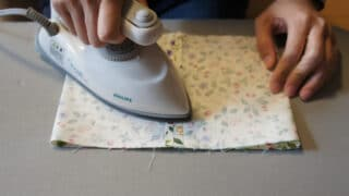mini iron on fabric seams