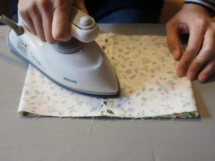 mini iron on fabric seams