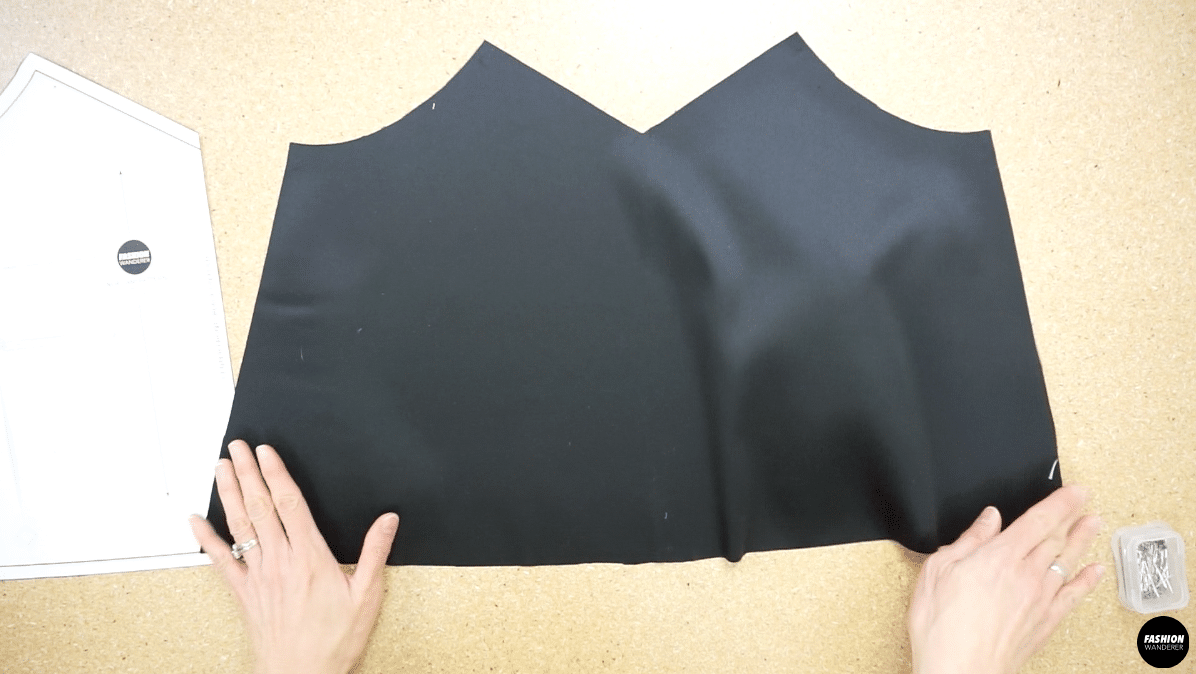 Noa lace camisole front piece pattern