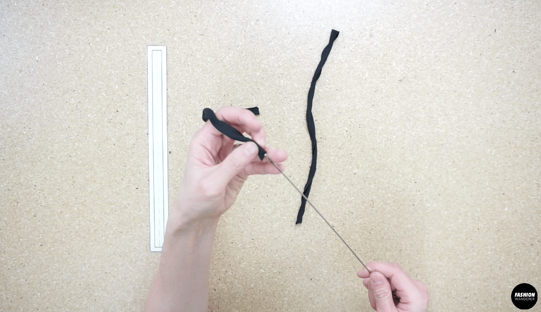 use a loop turner to flip inside out and iron shoulder straps flat