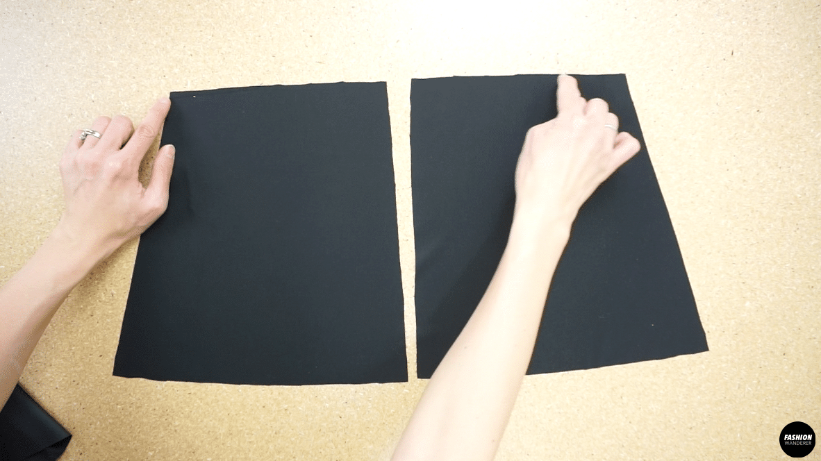 Use overlock stitch to secure the neckline of the back piece